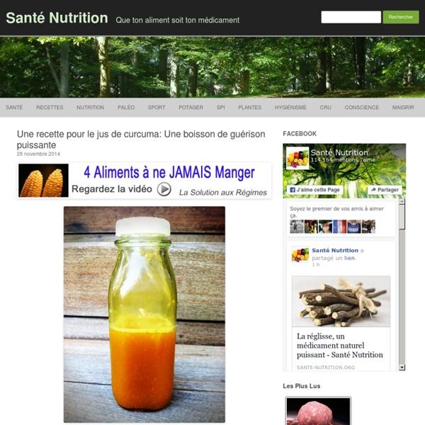 Une recette pour le jus de curcuma: Une boisson de guérison puissante