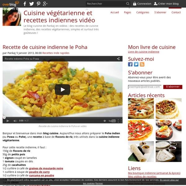Recette De Cuisine Indienne Le Poha Pearltrees - Cuisine vegetarienne blog