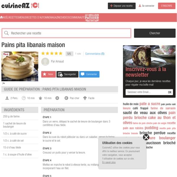 Recette Pains pita libanais maison (facile, rapide)