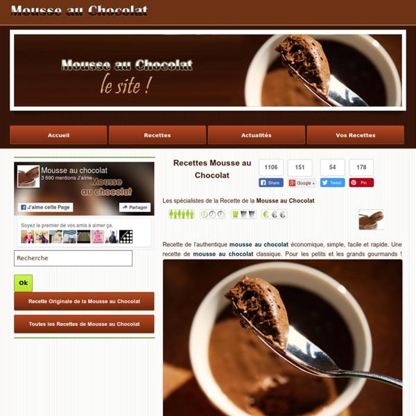 Mousse au chocolat - la recette de la mousse au chocolat en images