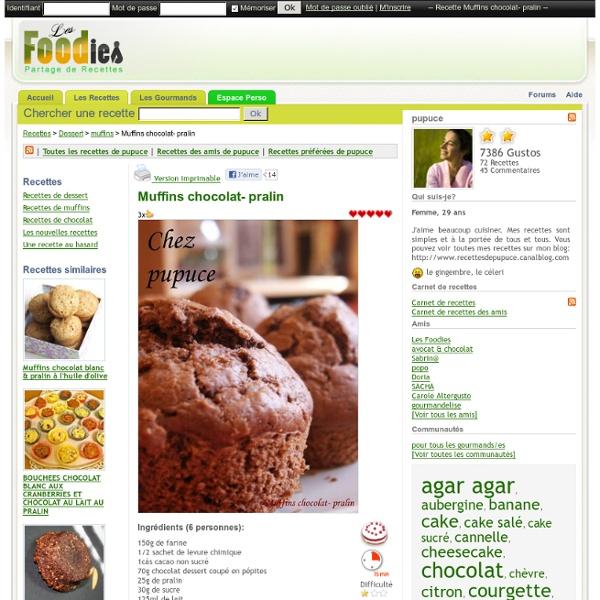 Muffins chocolat-pralin