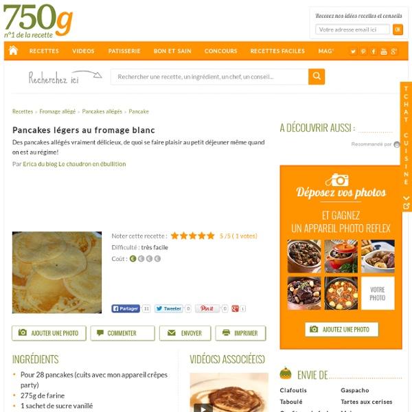 Pancakes légers au fromage blanc - Notée 5/5 par les internautes