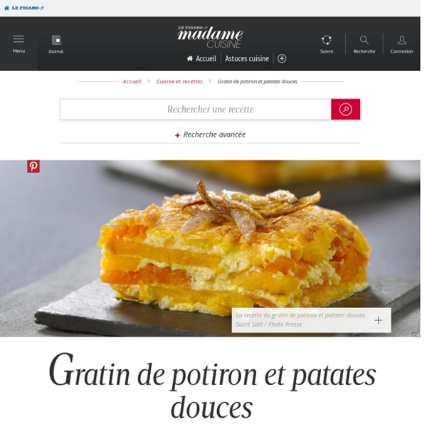 Gratin de potiron et patates douces - une recette Végétarien