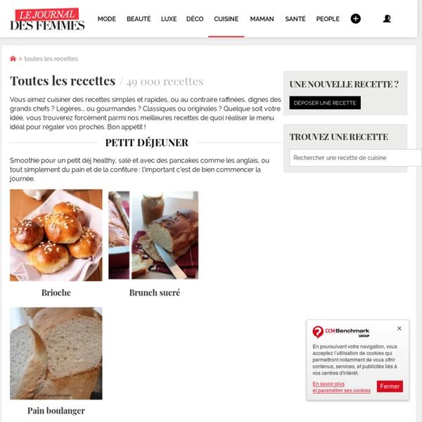 Recette de cuisine : toutes les recettes illustées et commentées par thèmes, ingrédients, régions, pays ...