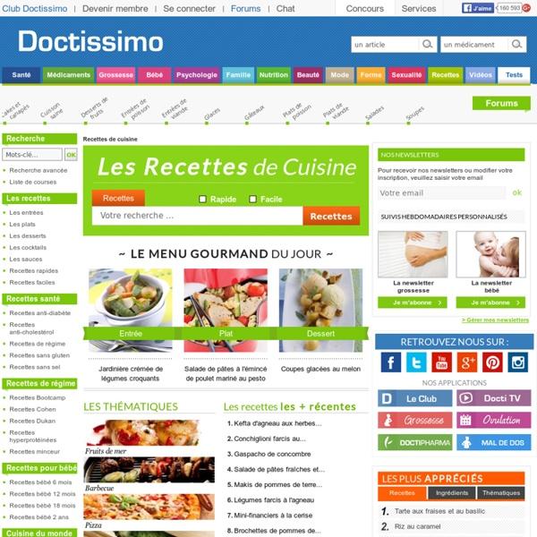 Recette de cuisine 14157 recettes gratuites doctissimo pearltrees - Recette cuisine gratuite ...