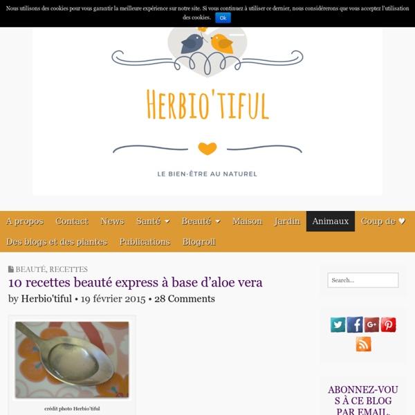 10 recettes beauté express à base d'aloe vera - Herbio'tiful