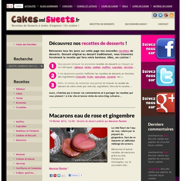 Recettes de desserts : Cakes and Sweets.fr