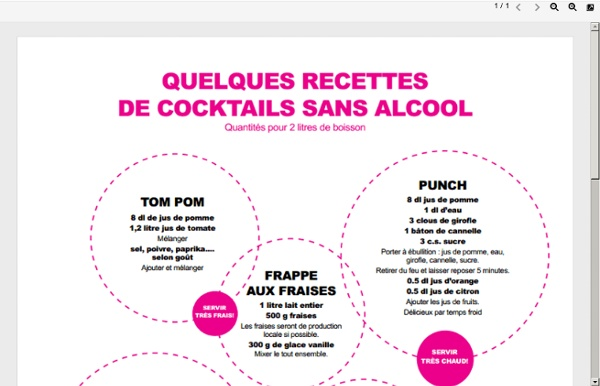 Recettes cocktails sans alcool