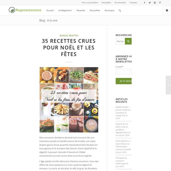 35 recettes crues pour Noël et les fêtes de fin d'année