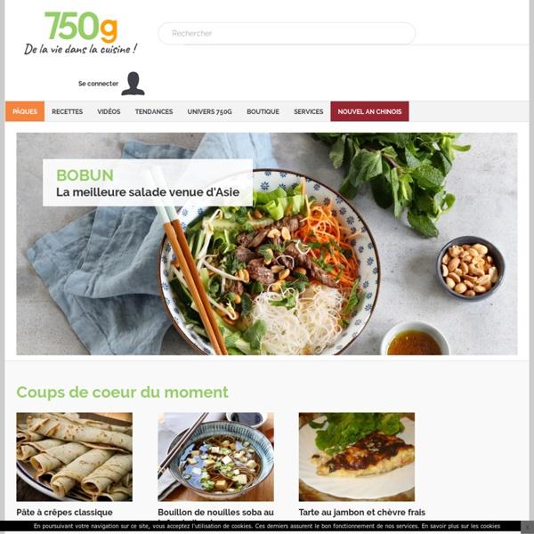 Toutes les recettes de cuisine - 750 grammes