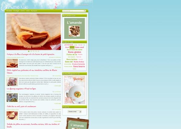 D'Âme Bio, Recettes de Cuisine biologique, sans gluten, sans lait et sans beurre