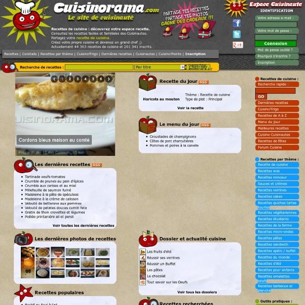 Recette de cuisine sur Cuisinorama 32000 recettes de cuisine facile