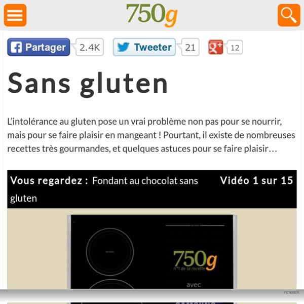 Recettes de cuisine sans gluten