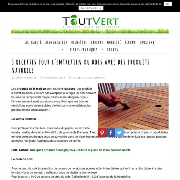 5 recettes pour l'entretien du bois avec des produits naturels