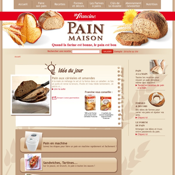 Recettes de Pain Maison avec les farines à pain Francine