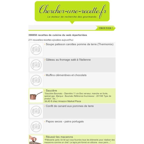 308479 recettes de cuisine indexées, le Samedi 28 Janvier 2012 à 03h32 par Chercher-une-recette.fr