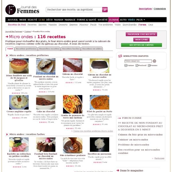 Recette de micro ondes : les recettes gourmandes les mieux notées