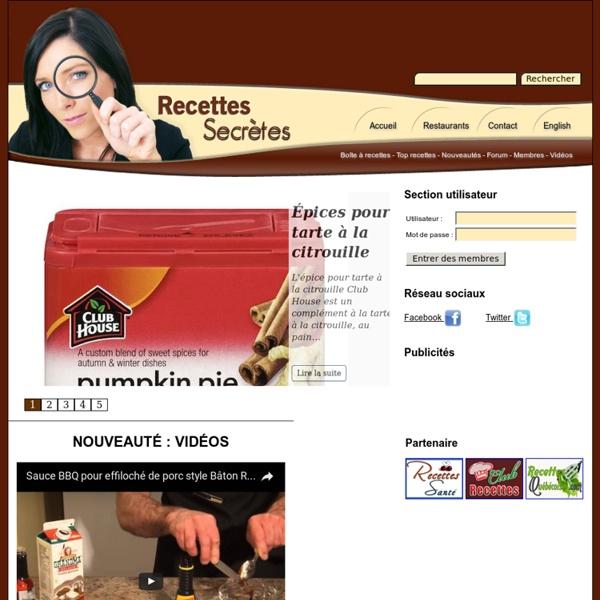 Recettes Secrètes -