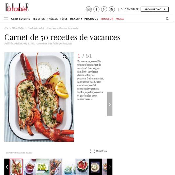Salade de feta à la grecque - Carnet de 50 recettes de vacances - ELLE.fr