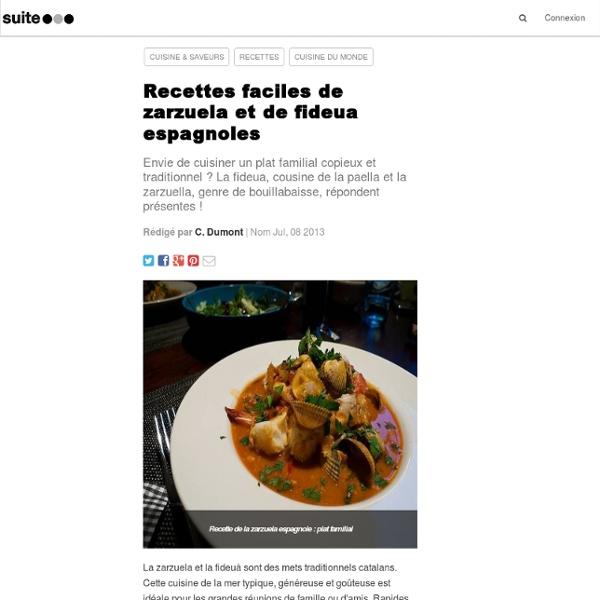 Recettes faciles de zarzuela et de fideua espagnoles