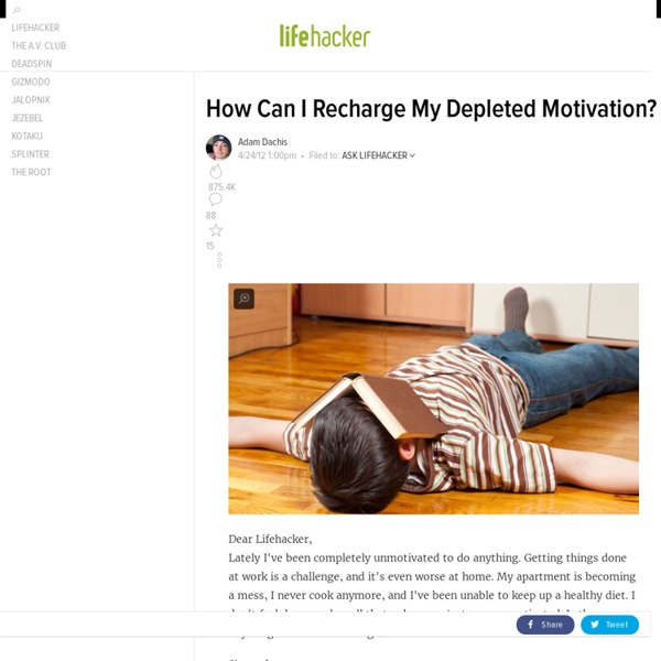 How Can I Recharge My Depleted Motivation?