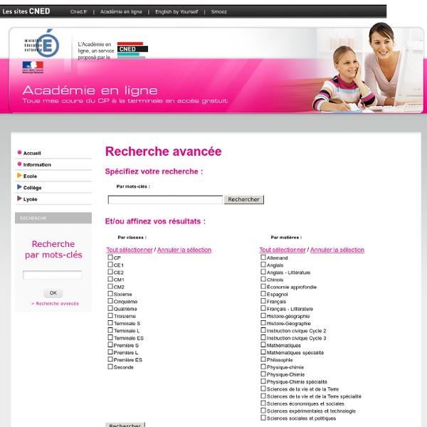 FORMULAIRE CNED : Académie en ligne