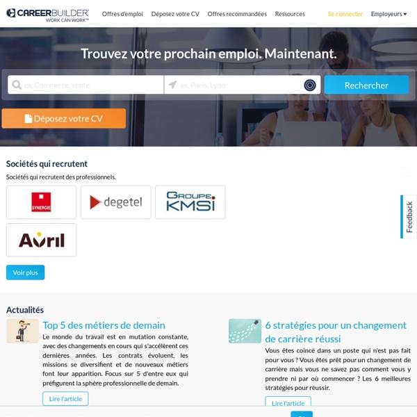 Offre d'emploi, recherche de job et carrière avec CareerBuilder France