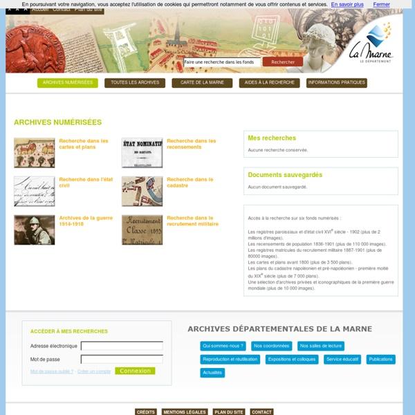 Recherche guidée - Archives de la Marne