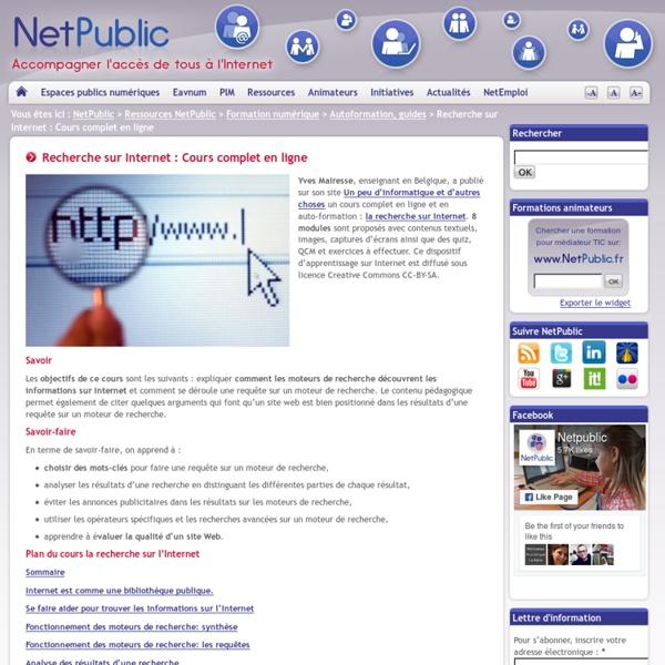 Recherche sur Internet : Cours complet en ligne