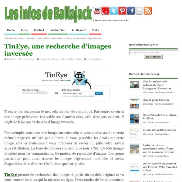 TinEye, une recherche d'images inversée