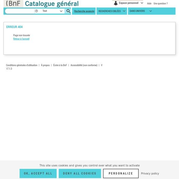 BnF catalogue général - Recherche simple