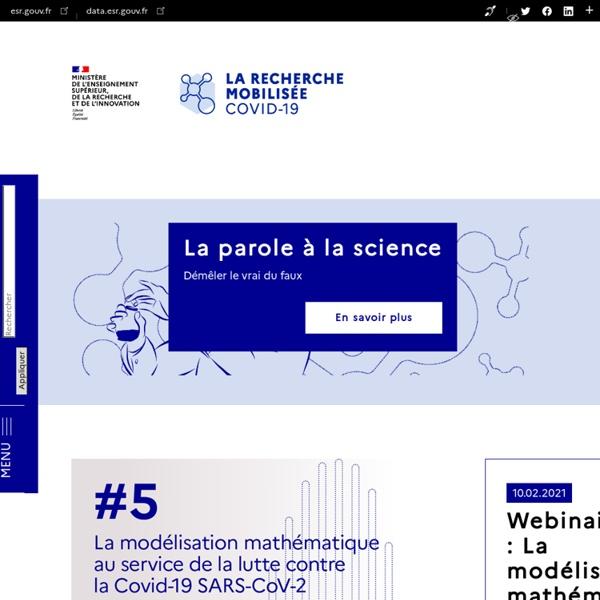 Recherchecovid.enseignementsup-recherche.gouv.fr