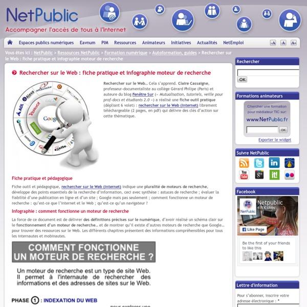 Recherche web et infographie moteur de recherche