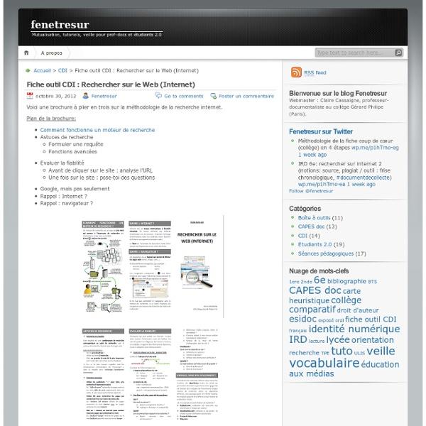 Fiche outil CDI : Rechercher sur le Web (Internet