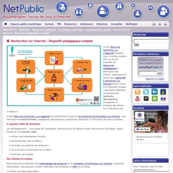 Rechercher sur Internet : Dispositif pédagogique complet