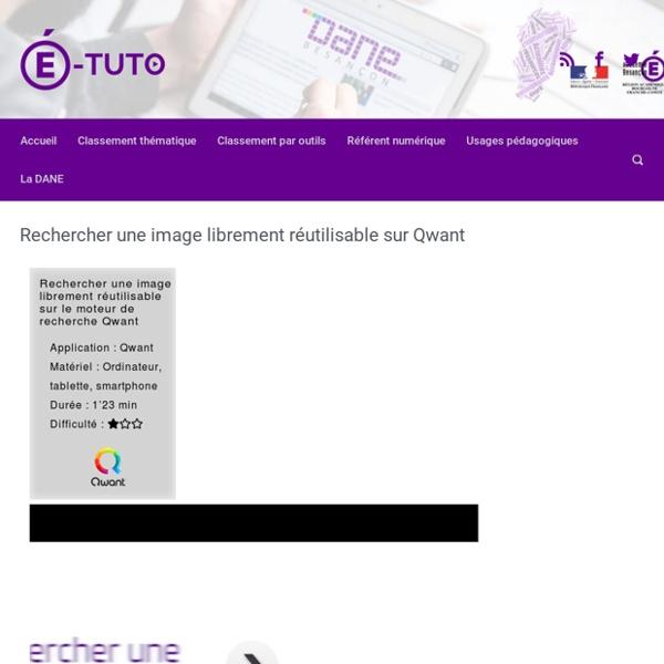Rechercher une image librement réutilisable sur Qwant