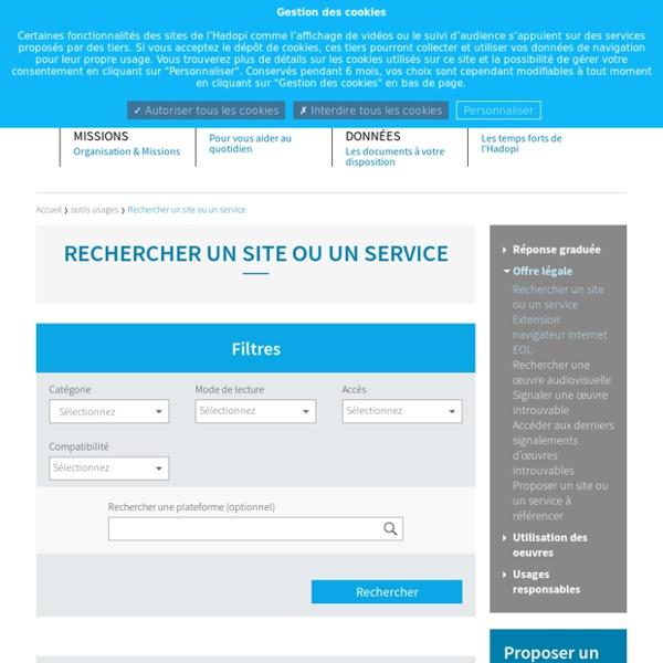Rechercher un site ou un service