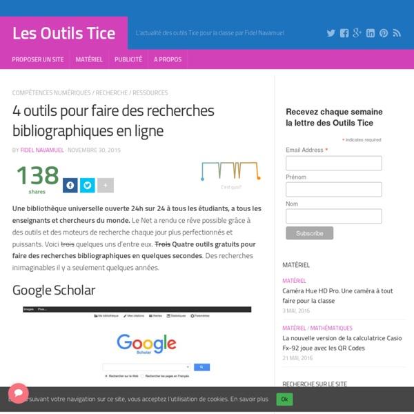 4 outils pour faire des recherches bibliographiques en ligne