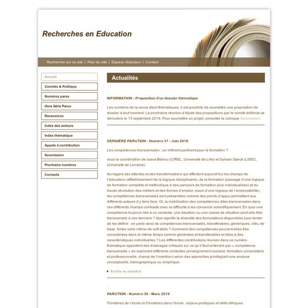 Recherches en Education