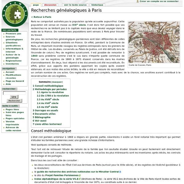 Recherches généalogiques à Paris