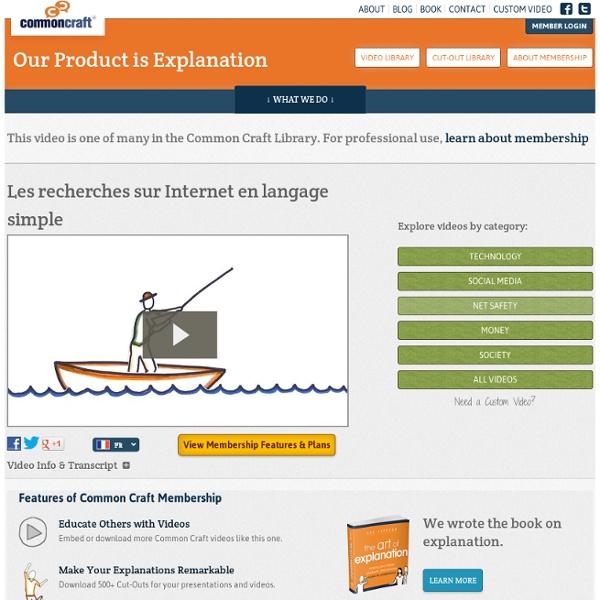 Les recherches sur Internet en langage simple