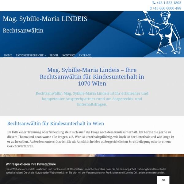 Rechtsanwältin für Kindesunterhalt in Wien