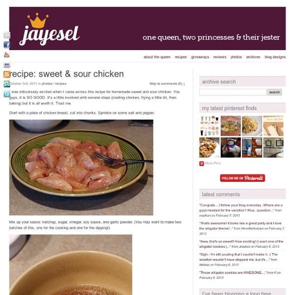Recipe: sweet & sour chicken