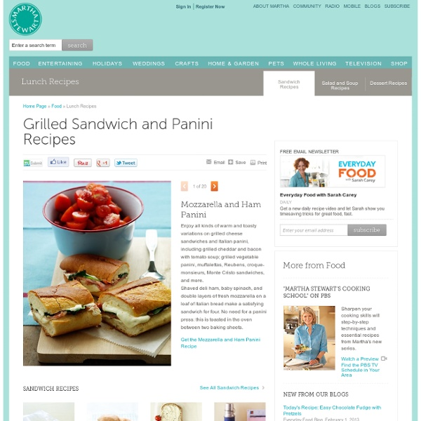 Grilled Sandwich and Panini Recipes - Martha Stewart Food