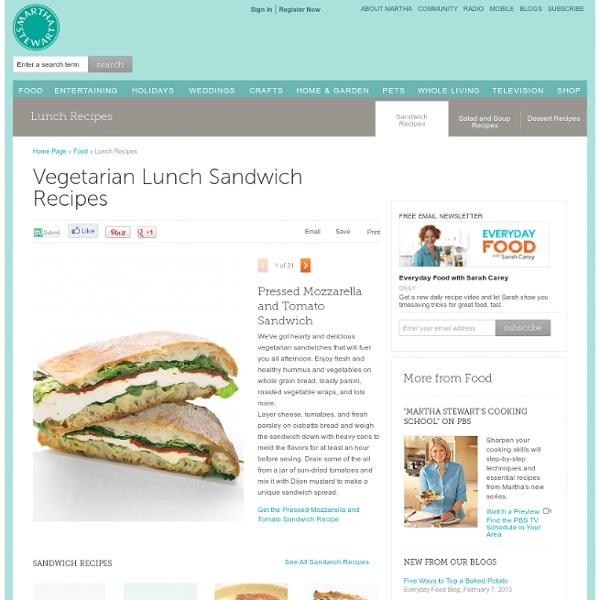Lunch Recipes: Vegetarian Lunch Sandwich Recipes - Martha Stewart