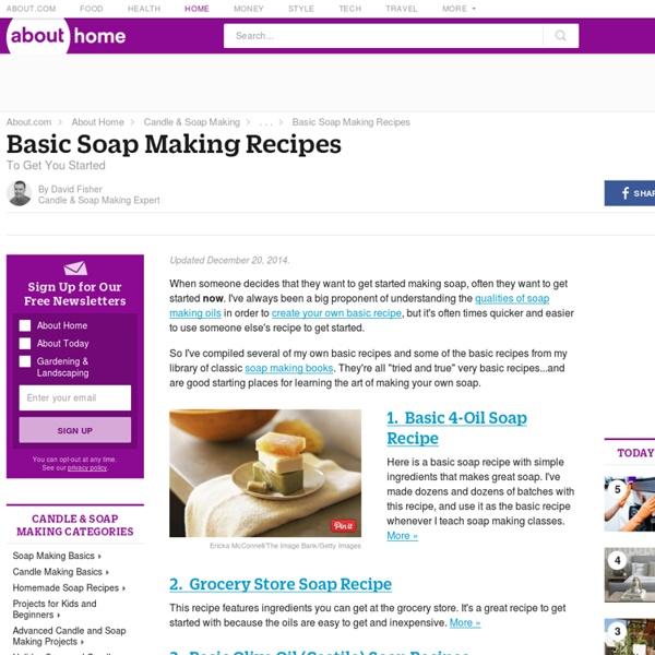 Basic Soap Making Recipes - Make Natural Homemade Soap