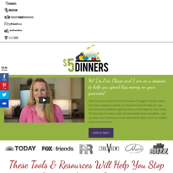 $5 Dinners™ — Feeding the Family for $5 or Less