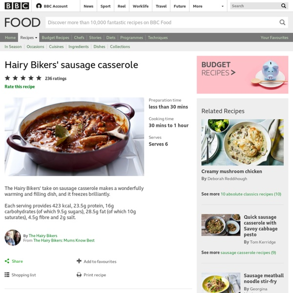 BBC Food - Recipes - Great sausage casserole