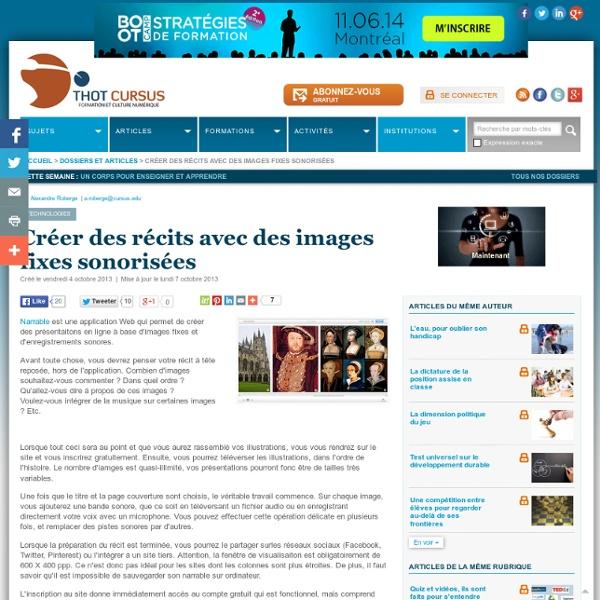 Créer des récits avec des images fixes sonorisées