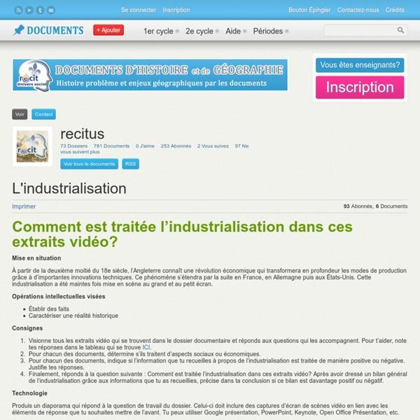 Documents http://documents.recitus.qc.ca